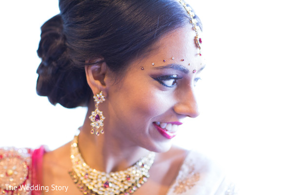 Bridal details in Cambridge, MA Indian Wedding by The Wedding Story