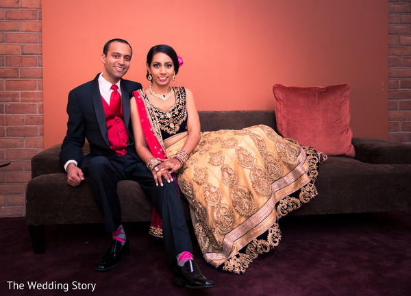 Reception portrait in Cambridge, MA Indian Wedding by The Wedding Story