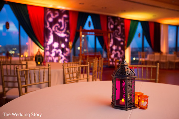 Sangeet decor in Cambridge, MA Indian Wedding by The Wedding Story
