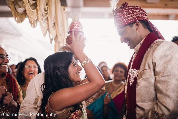 Baraat in Springfield, PA South Asian Wedding by Charmi Pena Photography