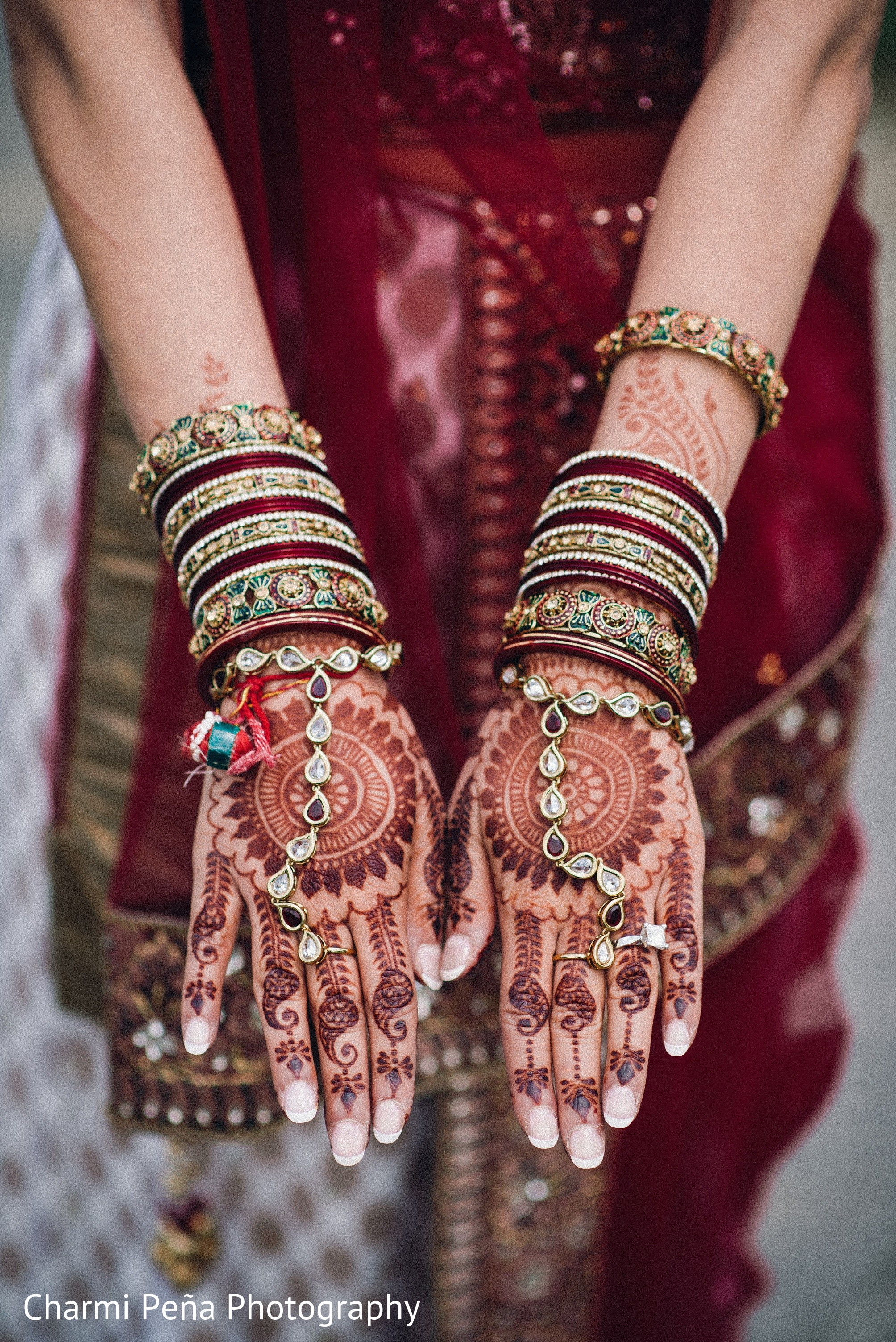 Mehndi Hands In Springfield PA South Asian Wedding By Charmi Pena Photography