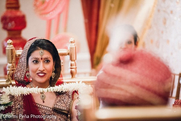 Ceremony in Springfield, PA South Asian Wedding by Charmi Pena Photography