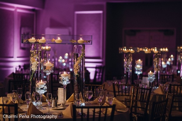 Reception floral & decor in Springfield, PA South Asian Wedding by Charmi Pena Photography