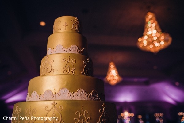 Wedding cake in Springfield, PA South Asian Wedding by Charmi Pena Photography