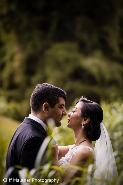 First Look in Hamilton Township, NJ South Indian Fusion Wedding by Cliff Mautner Photography