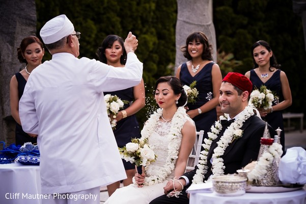 Ceremony in Hamilton Township, NJ South Indian Fusion Wedding by Cliff Mautner Photography