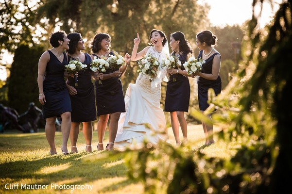 Bridal Party in Hamilton Township, NJ South Indian Fusion Wedding by Cliff Mautner Photography