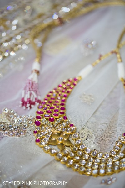 Necklace in Camden, NJ Indian Fusion Wedding by Styled Pink Photography