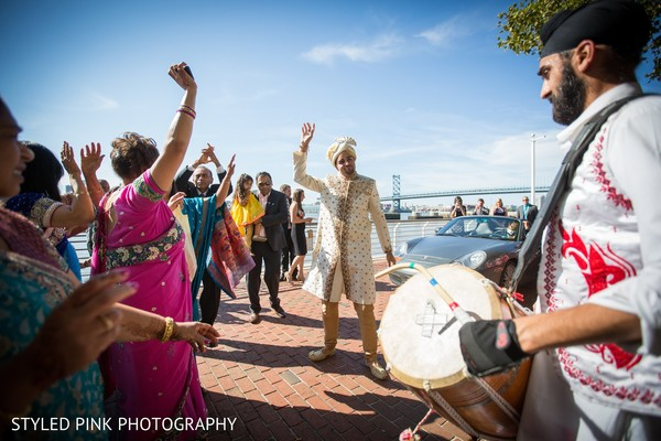 Baraat in Camden, NJ Indian Fusion Wedding by Styled Pink Photography
