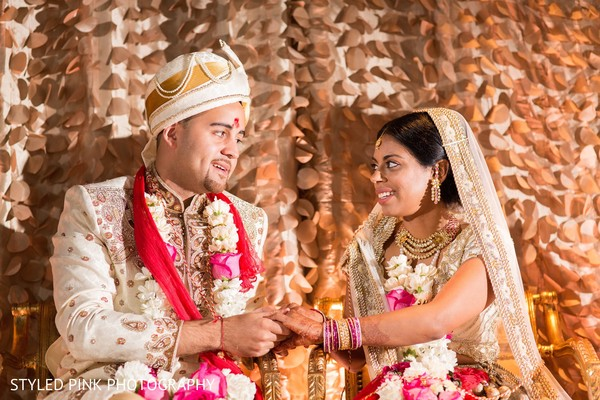 Indian fusion wedding ceremony in Camden, NJ Indian Fusion Wedding by Styled Pink Photography