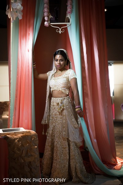 Bridal portrait in Camden, NJ Indian Fusion Wedding by Styled Pink Photography