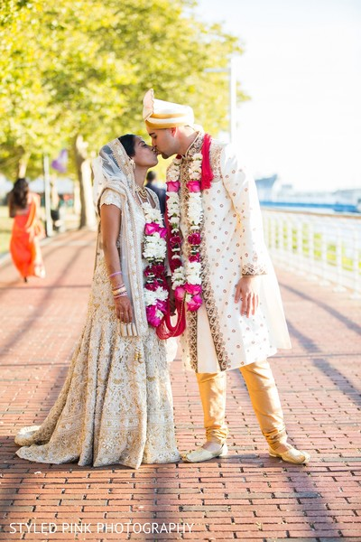 Wedding portrait in Camden, NJ Indian Fusion Wedding by Styled Pink Photography
