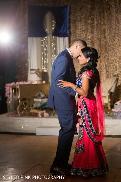Reception in Camden, NJ Indian Fusion Wedding by Styled Pink Photography