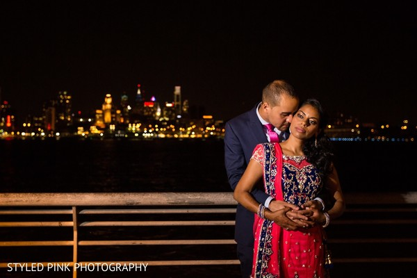 Reception portraits in Camden, NJ Indian Fusion Wedding by Styled Pink Photography