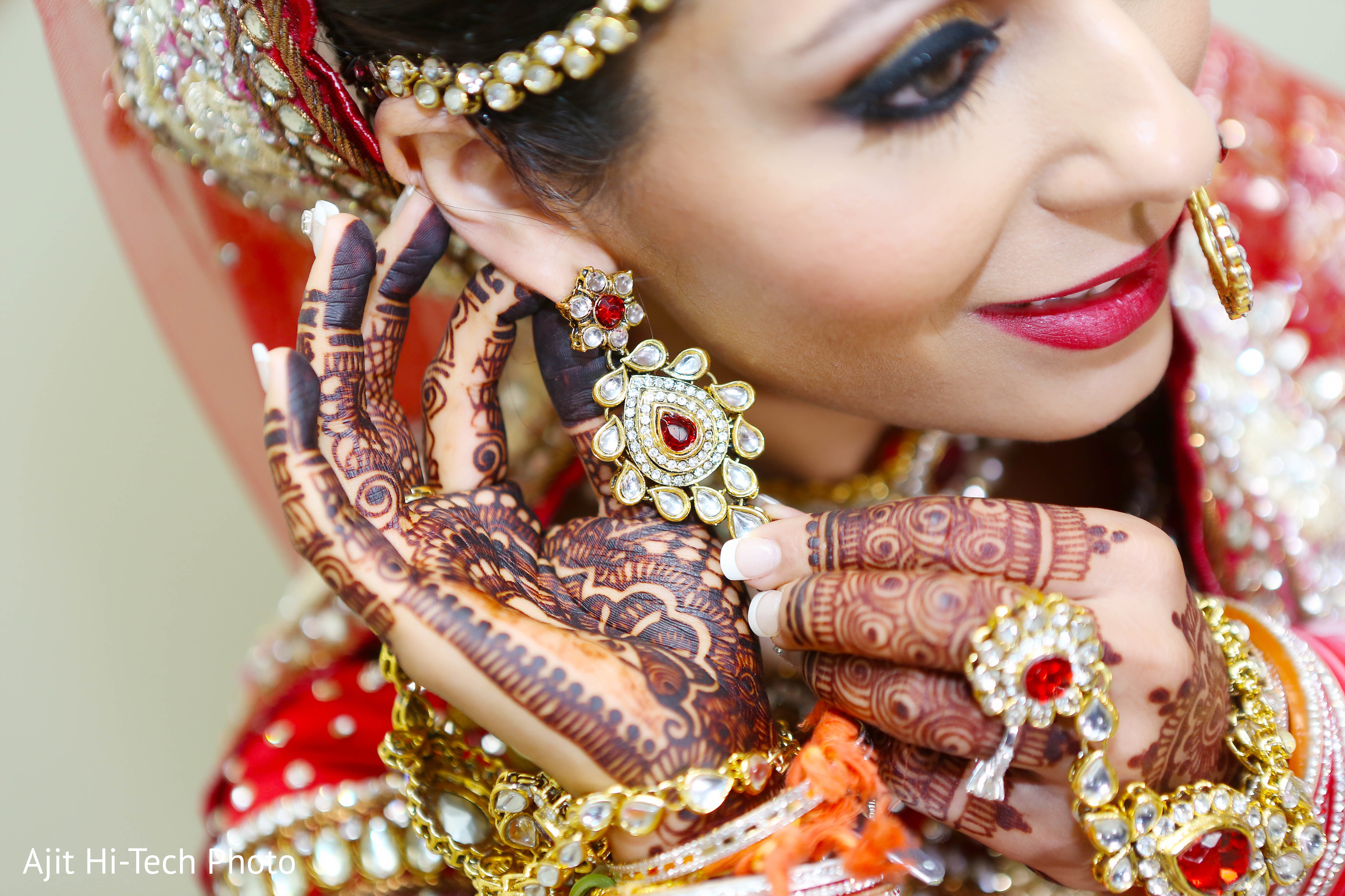 Jewelry in New York NY Sikh Wedding by Ajit Hi Tech & Video