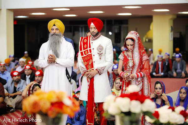 Ceremony in New York, NY Sikh Wedding by Ajit Hi-Tech Photo & Video Production
