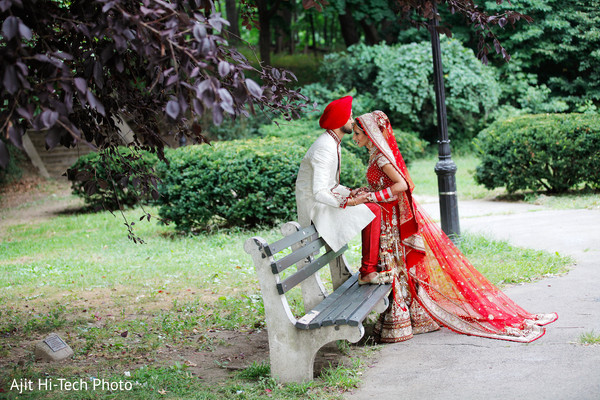 Wedding portraits in New York, NY Sikh Wedding by Ajit Hi-Tech Photo & Video Production