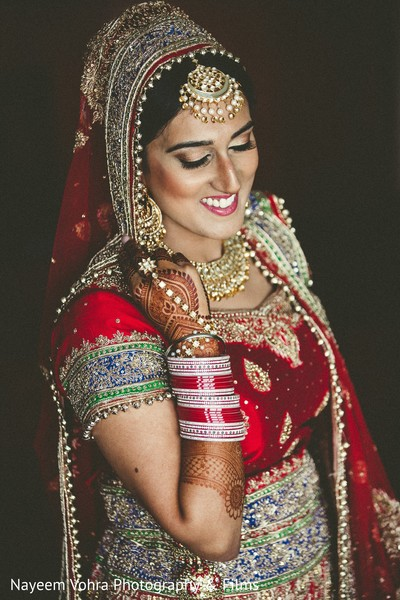 Bridal details in Pine Hill, NJ Sikh Wedding by Nayeem Vohra Photography & Films