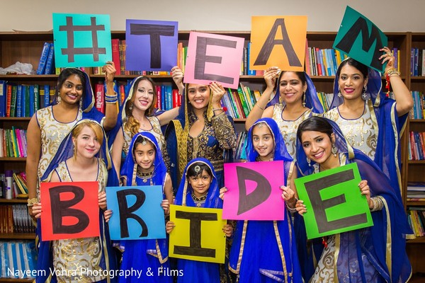 Bridesmaids in Pine Hill, NJ Sikh Wedding by Nayeem Vohra Photography & Films