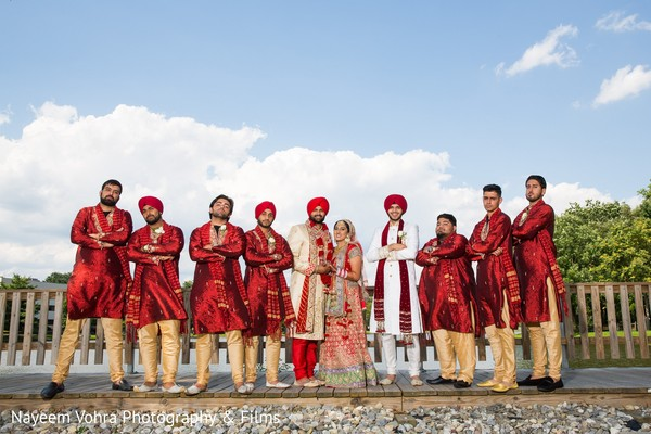 Wedding portrait in Pine Hill, NJ Sikh Wedding by Nayeem Vohra Photography & Films