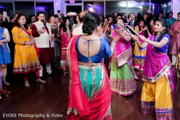 Garba in Houston, TX Indian-Chinese Fusion Wedding by EVOKE Photography & Video