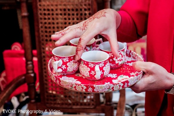 Tea Ceremony in Houston, TX Indian-Chinese Fusion Wedding by EVOKE Photography & Video