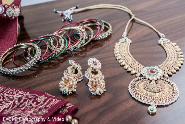 Bridal Jewelry in Houston, TX Indian-Chinese Fusion Wedding by EVOKE Photography & Video