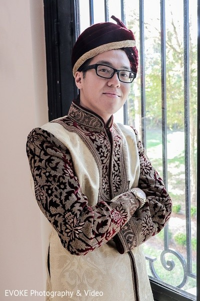 Groom Portrait in Houston, TX Indian-Chinese Fusion Wedding by EVOKE Photography & Video