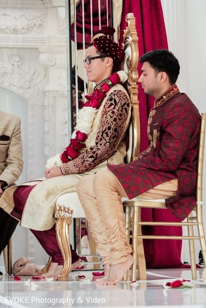 Ceremony in Houston, TX Indian-Chinese Fusion Wedding by EVOKE Photography & Video