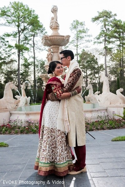 Wedding Portrait in Houston, TX Indian-Chinese Fusion Wedding by EVOKE Photography & Video