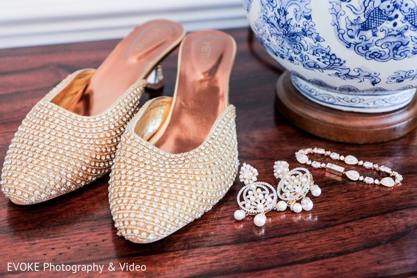 Shoes & Bridal Jewelry in Houston, TX Indian-Chinese Fusion Wedding by EVOKE Photography & Video
