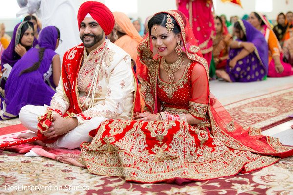 Ceremony in Livingston, CA Sikh Wedding by Desi Intervention Studios
