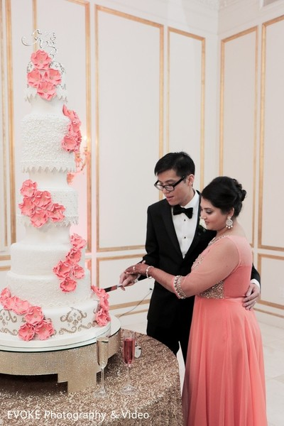 Reception in Houston, TX Indian-Chinese Fusion Wedding by EVOKE Photography & Video