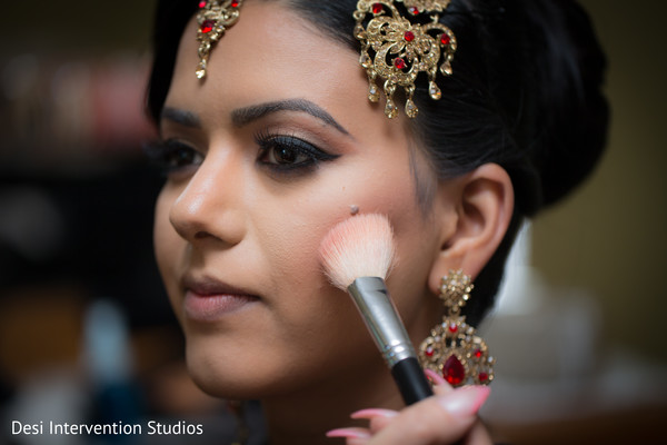 Bride getting ready in Livingston, CA Sikh Wedding by Desi Intervention Studios