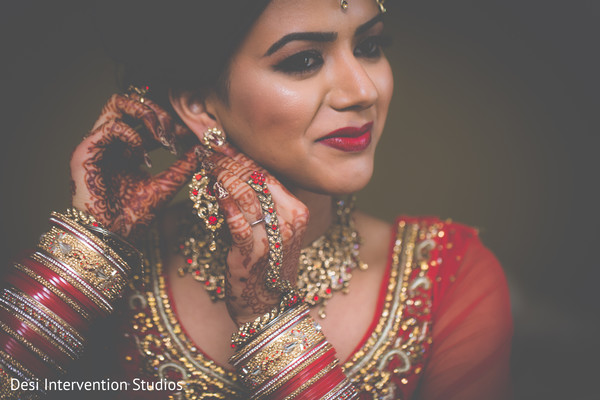 Bridal portrait in Livingston, CA Sikh Wedding by Desi Intervention Studios