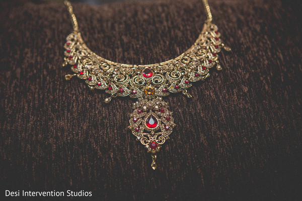 Necklace in Livingston, CA Sikh Wedding by Desi Intervention Studios