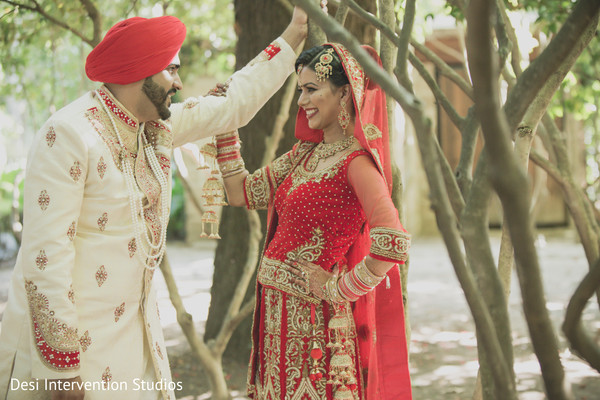 Wedding portrait in Livingston, CA Sikh Wedding by Desi Intervention Studios