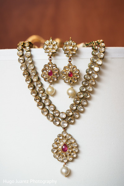 Bridal Jewelry in Park Ridge, NJ Indian Wedding by Hugo Juarez Photography
