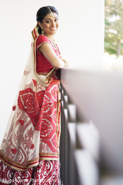 Bridal Portrait in Park Ridge, NJ Indian Wedding by Hugo Juarez Photography