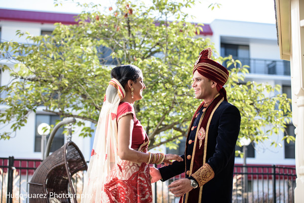 First Look in Park Ridge, NJ Indian Wedding by Hugo Juarez Photography