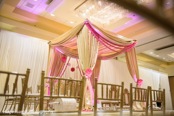 Ceremony Decor in Park Ridge, NJ Indian Wedding by Hugo Juarez Photography