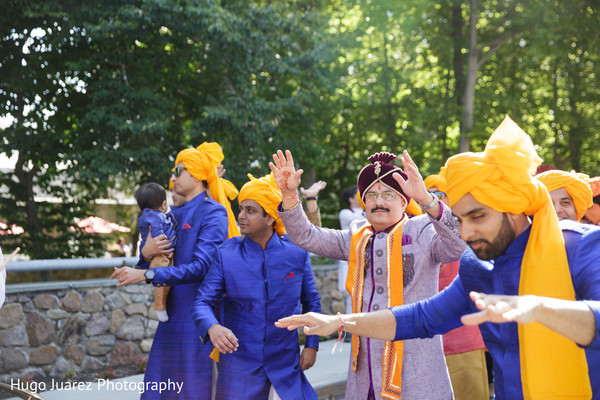 Baraat in Park Ridge, NJ Indian Wedding by Hugo Juarez Photography