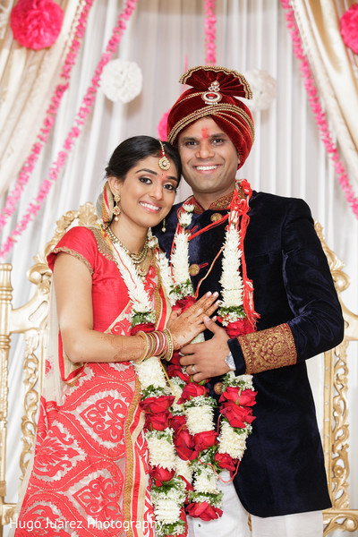Wedding Portrait in Park Ridge, NJ Indian Wedding by Hugo Juarez Photography