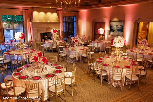 Tablescapes in Newport Coast, CA Indian Wedding by Andrena Photography