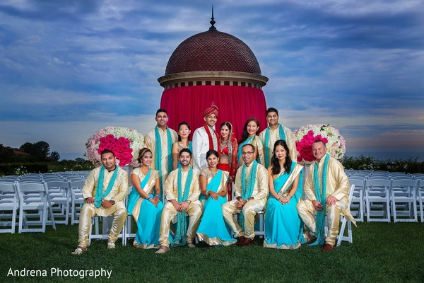 Wedding party in Newport Coast, CA Indian Wedding by Andrena Photography