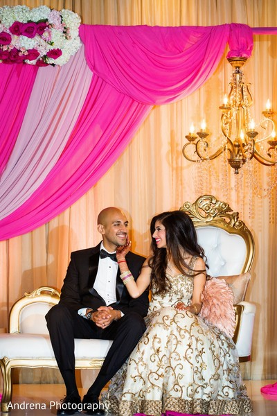 Reception in Newport Coast, CA Indian Wedding by Andrena Photography
