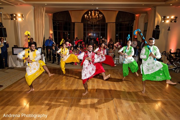 Bhangra in Newport Coast, CA Indian Wedding by Andrena Photography