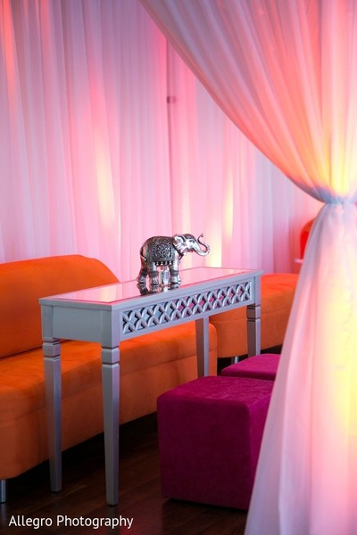 Sangeet Decor in Boston, MA Indian Wedding by Allegro Photography