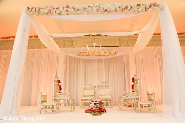 Mandap in Boston, MA Indian Wedding by Allegro Photography