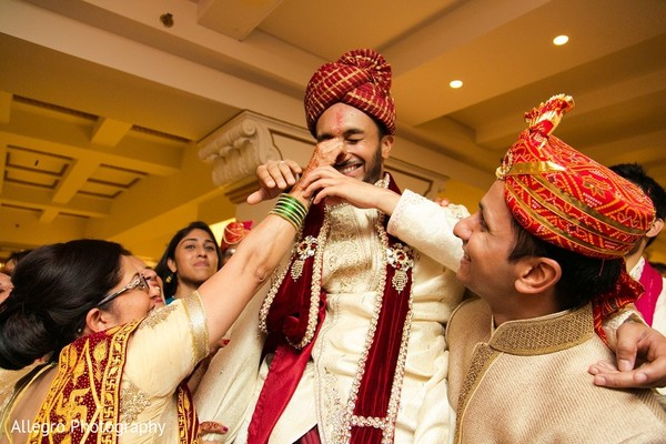 Ceremony in Boston, MA Indian Wedding by Allegro Photography